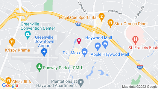Extended Stay America Suites Greenville Haywood Mall Map