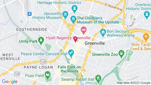 Aloft Greenville Downtown Map