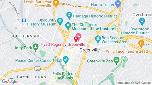 Hyatt Regency Greenville Map