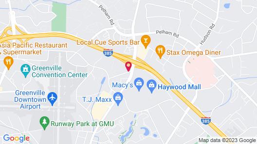 Comfort Inn Greenville - Haywood Mall Map