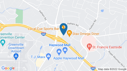 Quality Inn & Suites Greenville - Haywood Mall Map