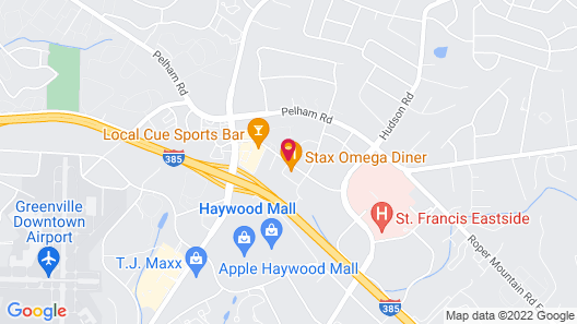 Courtyard by Marriott Greenville Haywood Mall Map