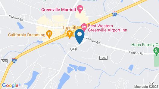 Comfort Suites Greenville Airport Map