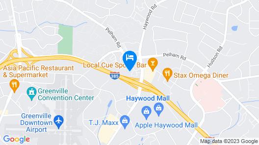 Hilton Greenville Map