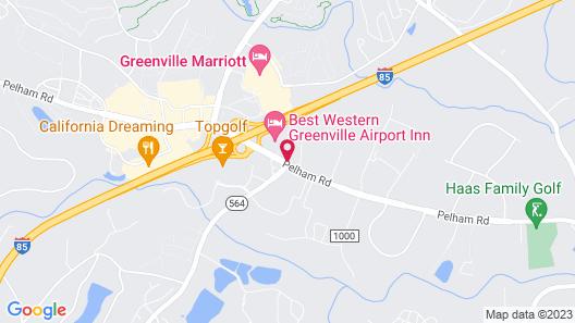 Best Western Greenville Airport Inn Map