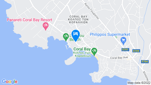 Coral Beach Hotel and Resort Map