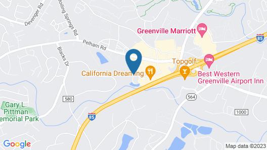 Wyndham Garden Greenville Airport Map