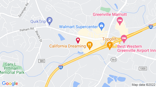 Wingate by Wyndham - Greenville-Airport Map