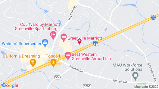 MainStay Suites Greenville Airport Map