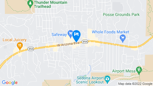 Sedona Rouge Hotel and Spa Trademark Collection by Wyndham Map