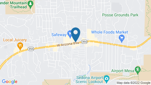 Sedona Rouge Hotel and Spa Map