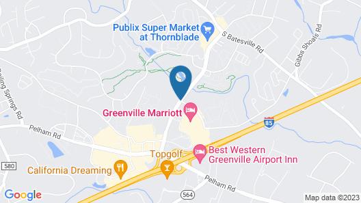 Greenville Marriott Map