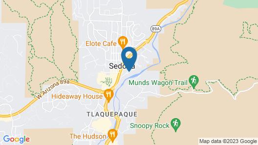 L'Auberge de Sedona Map