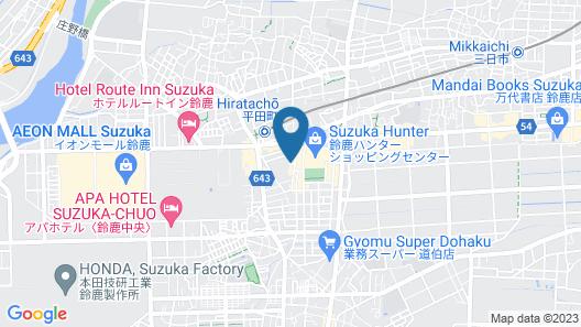 Super Hotel Suzuka Map