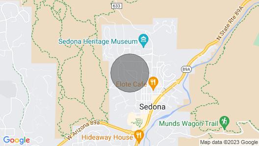 Saguaro Studio in the Heart of Uptown Sedona Map