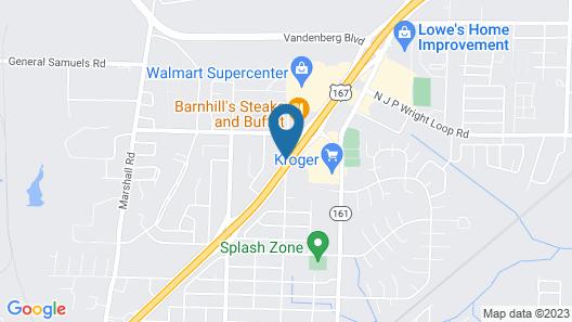 Best Western Jacksonville Inn Map