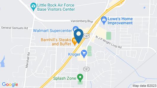 Super 8 by Wyndham Jacksonville AR Map