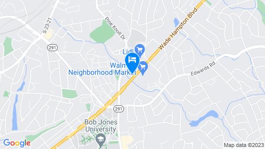 Motel 6 Greenville, SC Map
