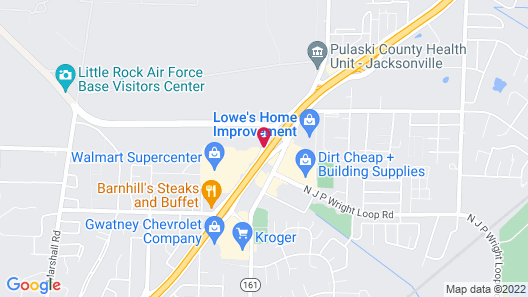 OYO Townhouse Inn Jacksonville AR Map