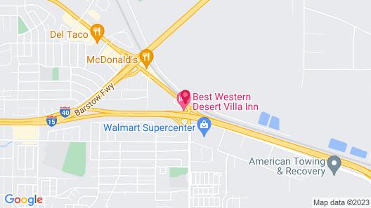 Best Western Desert Villa Inn Map