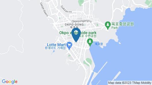 Brown Dot Hotel Geoje Map