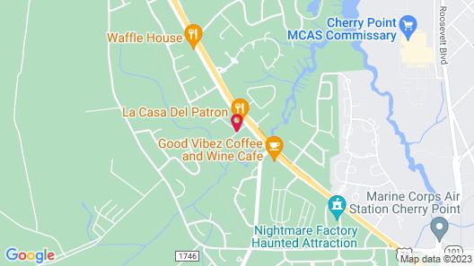 Hampton Inn Havelock Map
