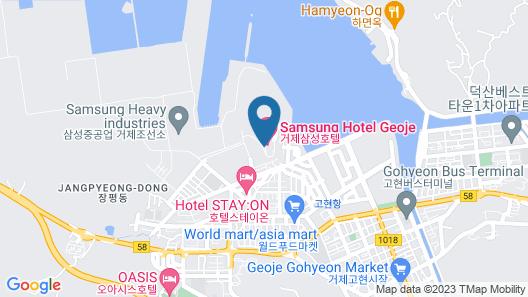 Samsung Hotel Geoje Map