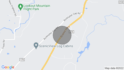 The Blue Cottage Rental - Lookout Mountain Getaway Map