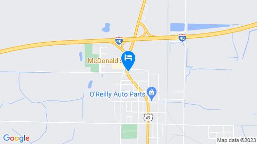 Motel 6 Brinkley, AR Map
