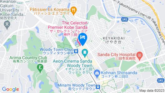 THE CELECTON PREMIER KOBE SANDA HOTEL Map