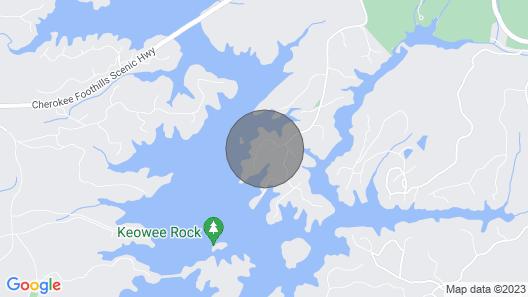Upper Lake Keowee Waterfront! Covered Dock/jetports. Mountain Serenity Map