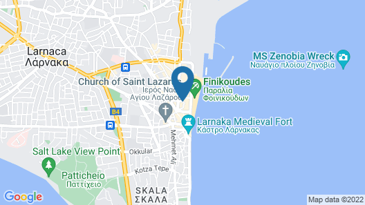 Achilleos City Hotel Map