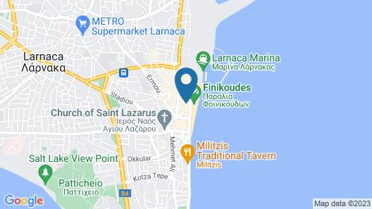 Les Palmiers Beach Hotel Map