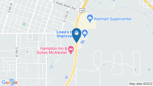 Days Inn & Suites by Wyndham McAlester Map