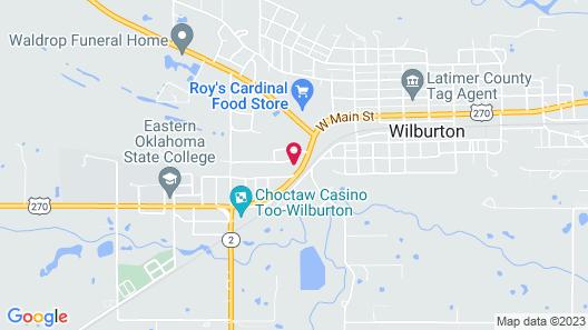 HiWay Inn & Suites Wilburton Map