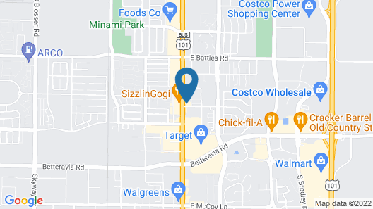 Colonial Motel Map