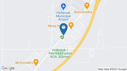 Econo Lodge I-40 exit 286 Holbrook Map