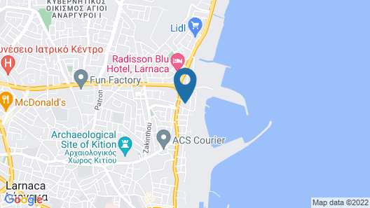 1 Bedroom Apartment near the Beach Map