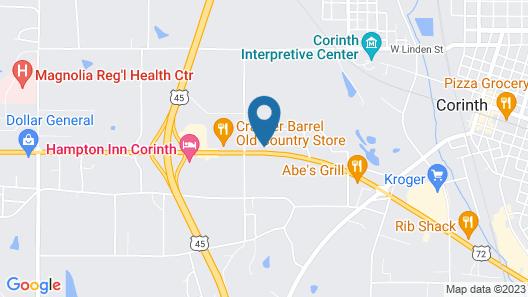 Corinth Inn & Suites Map