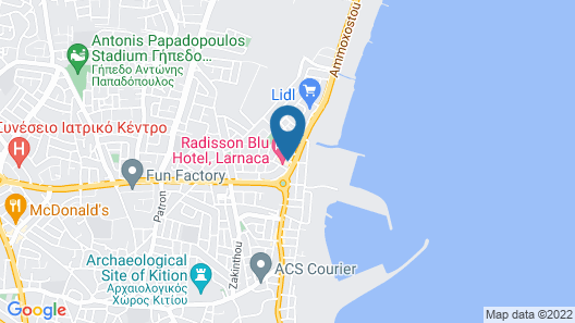 Radisson Blu Hotel, Larnaca Map