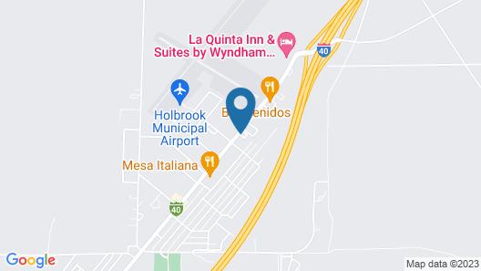 Motel 6 Holbrook, AZ Map