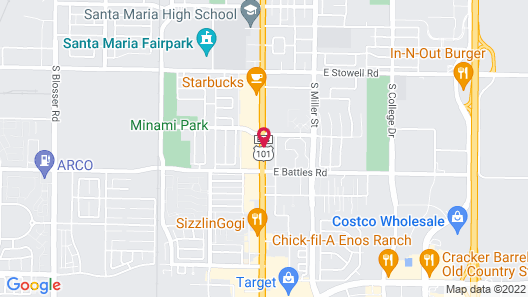 Travelodge by Wyndham Santa Maria Map