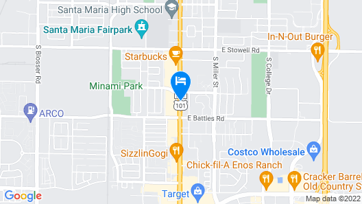 Travelodge by Wyndham Santa Maria Map