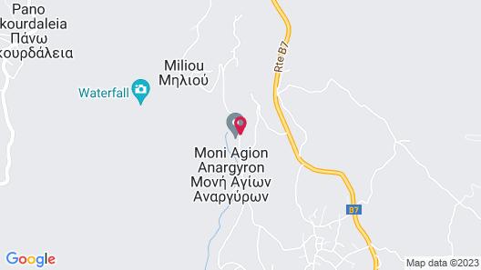 Ayii Anargyri Natural Healing Spa Resort Map