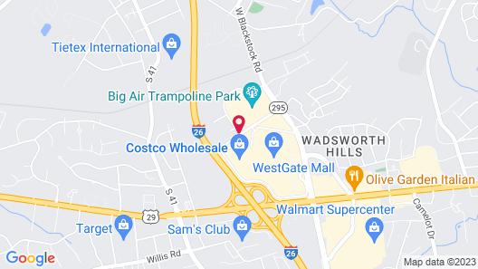 Hampton Inn & Suites Spartanburg-I-26-Westgate Mall Map