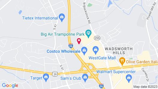 Hilton Garden Inn Spartanburg, SC Map