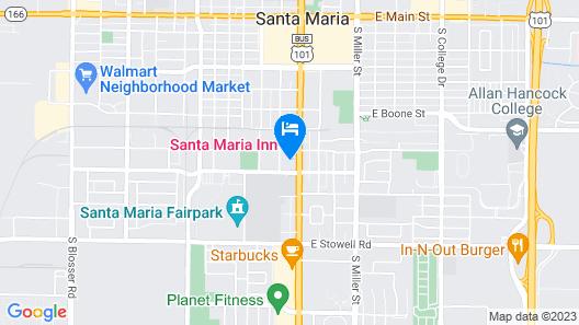 Historic Santa Maria Inn Map