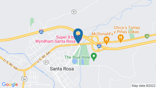 Super 8 by Wyndham Santa Rosa Map