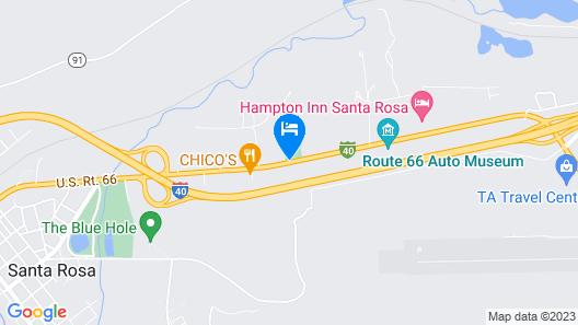 Hampton Inn Santa Rosa Map
