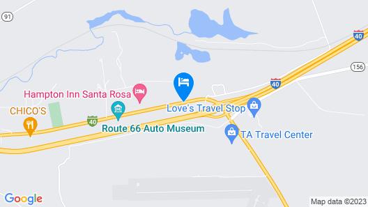 Motel 6 Santa Rosa, NM Map